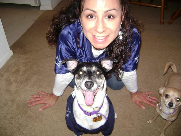 Mommy and Oreo showing Cowboy spirit!